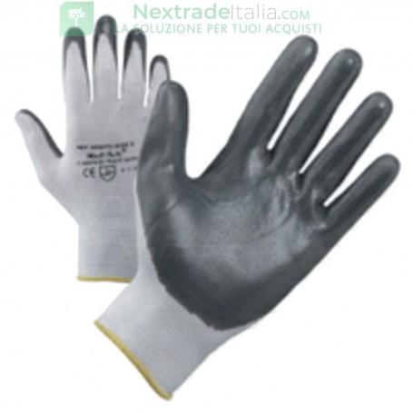 12PAIA GUANTI NYLON/NITRILE NBR 999 TG. 9