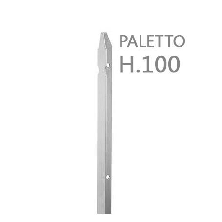 10PZ Paletto a T altezza 100 CM sezione mm 30x30x3 ZINCATO Palo Colore ZINCO da GIARDINO recinzione in ferro