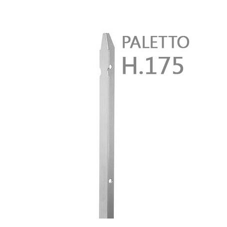 10PZ Paletto a T altezza 175 CM sezione mm 30x30x3 ZINCATO Palo Colore ZINCO da GIARDINO recinzione in ferro