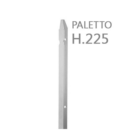 10PZ Paletto a T altezza 225 CM sezione mm 30x30x3 ZINCATO Palo Colore ZINCO da GIARDINO recinzione in ferro