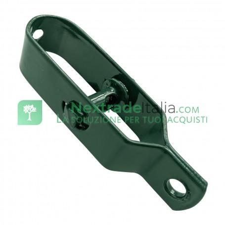Tendifilo Plastificato lunghezza MM 100 per Paletto a T o Tondo Tenditore rete metallica Pali per RECINZIONE da GIARDINO Verde