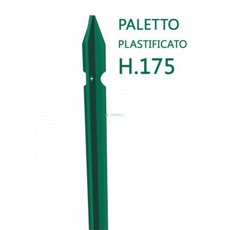 Paletto a T altezza 175 CM sezione mm 30x30x3 PLASTIFICATO Palo Verde da GIARDINO recinzione in ferro
