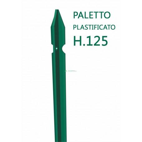 Paletto a T altezza 125 CM sezione mm 30x30x3 PLASTIFICATO Palo Verde da GIARDINO recinzione in ferro
