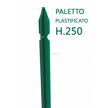 Paletto a T altezza 250 CM sezione mm 30x30x3 PLASTIFICATO Palo Verde da GIARDINO recinzione in ferro